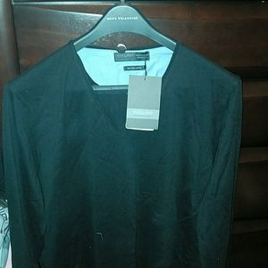 Top zara man black  fine cotton